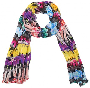 Nicole Miller Flower Chain Stripe Scarf: US$128.