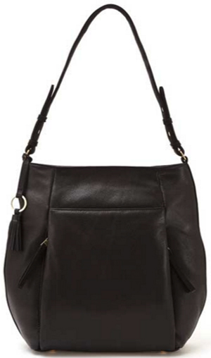 Mint Velvet Black Libby Leather Tote: £159.