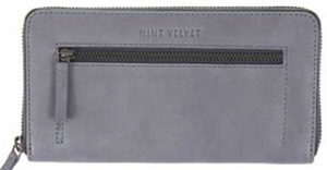 Mint Velvet Grey Imme Leather Zip Purse: £59.