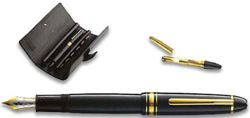 Montblanc Meisterstück LeGrand Traveler Cartridge Fountain Pen: US$999.