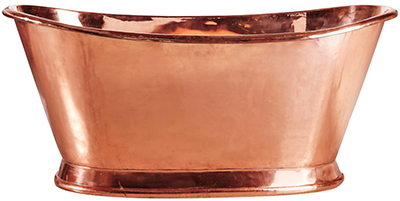 Copper bathtub by Muubs.