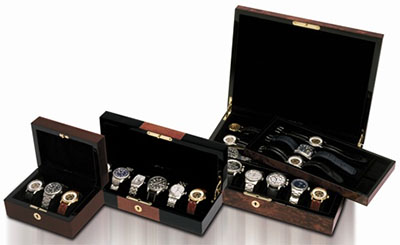 Orbita Zurigo - Twelve Black & Burl watch cases.