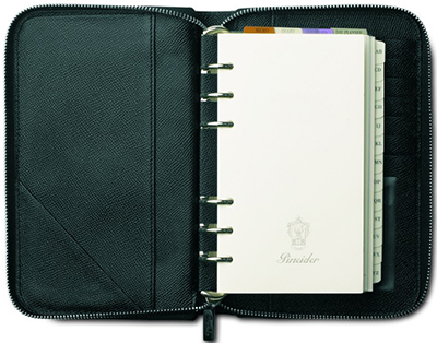 Pineider organizer - medium with envelope shaped flap: €380.