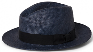 Orlebar Brown Piers Navy Traditional Panama Hat: £145.