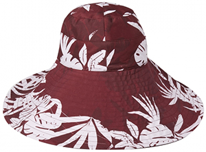 Orlebar Brown Imogen Crimson Camo Leaf/Bordeaux Reversible Sunhat: £125.