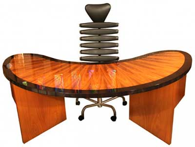 Parnian Hollywood 2 custom desk was designed by Abdolhay Parnian: US$10,360.