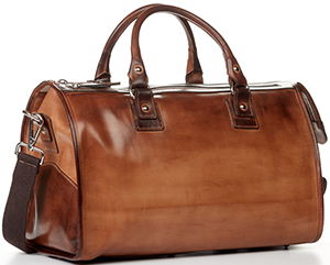 Paul Evans Italian leather Weekend Bag - aged cognac: US$1,499.