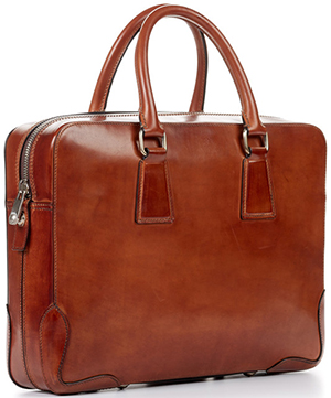 Paul Evans Italian leather Briefcase - marrone: US$999.