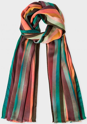 Paul Smith Women's Silk Stripe Scarf: €240.