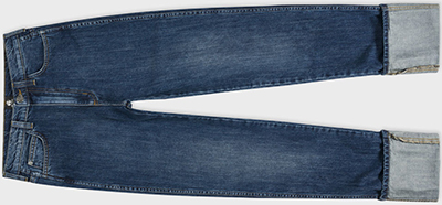 Paul Smith Women's Japanese Mid-Wash Turn-Up Jeans: €330.