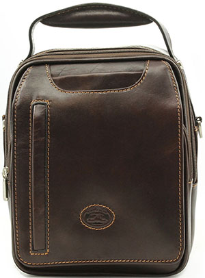 Tony Perotti The Lugano Vertical Flap-Over Carry All Bag: US$235.