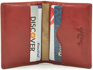 Tony Perotti Men's Italian Bull Leather Thin Bifold Credit Card Holder Wallet: US$63.