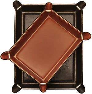 Tony Perotti Unisex Italian Bull Leather Executive Organizer Travel Tray: US$64.