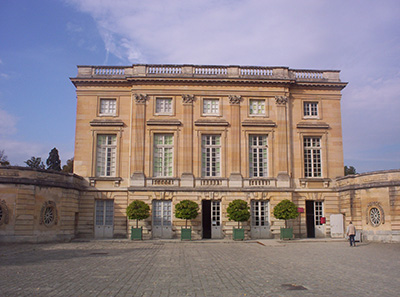 Petit Trianon located on the grounds of the Palace of Versailles in Versailles, France designed by Ange-Jacques Gabriel (1698-1782).
