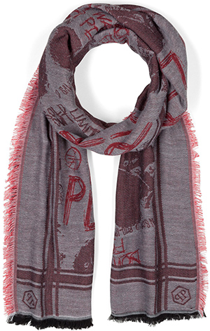 Philipp Plein men's long scarf Funny As Hell: €225.