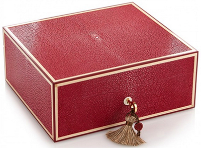Katherine Pooley Eva shagreen jewellery box: £2,765.
