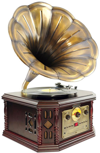 PylePro Vintage Phonograph Horn Turntable.