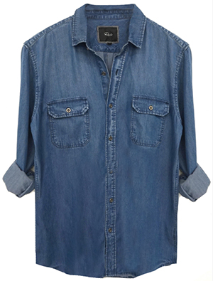 Rails Beckford - Dark Vintage Wash men's shirt: US$148.