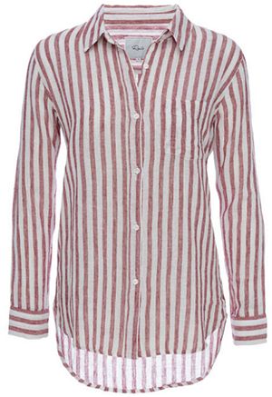 Rails Charli - Red/White Stripe women's shirt: US$148.