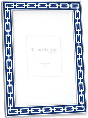 Silver Link Navy 4 × 6 Frame by Reed & Barton: US$45.