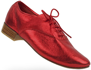 Repetto Richelieu Zizi Rouge Kiss Veau Metal women's shoe.
