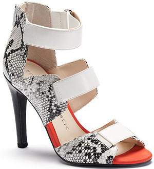 Rock & Republic Women's Banded Peep-Toe High Heels: US$74.99.