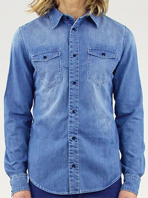 RES Denim Bobby Shirt - Farewell Blues men's shirt.