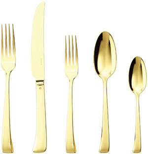 Rosenthal 5 Pcs Place Setting (solid handle knife) | Imagine Gold: US$170.