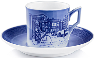 Royal Copenhagen Christmas Cup and Saucer 2016: US$150.