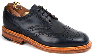 Sanders Navy Brogue Gibson Shoe: £289.