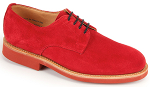 Sanders Lily Red Suede Plain Gibson Shoe: £195.