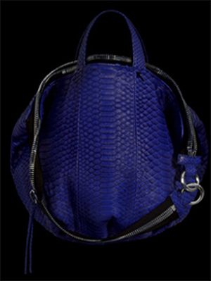 Sang A Mini Pop Blue Python bag.