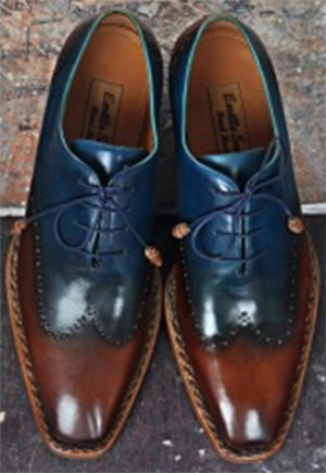 Emillo Santo Afro T Oxford handmade shoes: US$375.
