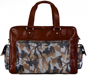 Self-Made Bags Oversized leather duffle bag for men: US$899.