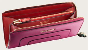 Bvlgari L-Shaped Zipped Serpenti Forever women's wallet: US$840.