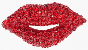 Sonia Rykiel Red Lips Brooch: US$140.
