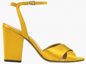 Sonia Rykiel Satin Heeled Sandals: US$645.