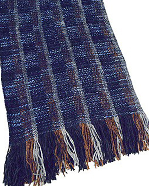 St. Croix Multi Check Chenille Scarf in Longer Length: US$165.