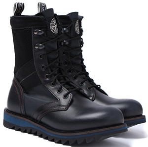 Stone Island Black Lace Up Vibram Gumlite Sole Men's Boots.