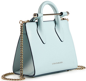 The Strathberry Nano Tote - Powder Blue: £295.