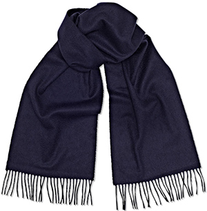 Sunspel Cashmere Scarf in Navy: £125.