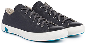 Sunspel Men's X Shoes Like Pottery Canvas Trainers Low Top in Skye: £115.