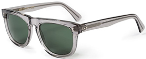 Sunspel Men's Cutler and Gross Sunglasses in Smokey Quartz: £310.