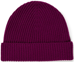 Sunspel Women's Ribbed Cashmere Hat in Reed: £65.