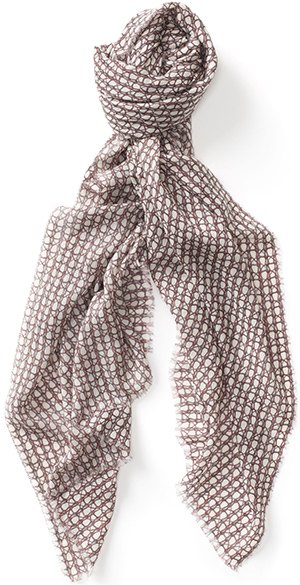 Sunspel Women's Fine Cashmere House Print Scarf: £185.