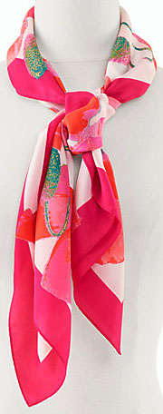 Talbots women's Poppy Square Scarf: US$69.50.