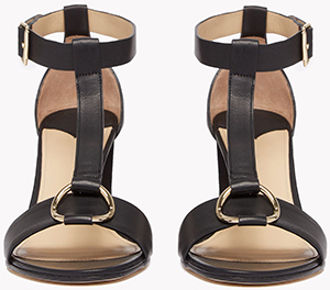 Theory Leather T-Strap Sandal: US$445.