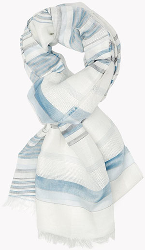 Theory women's Washed Stripe Scarf: US$150.