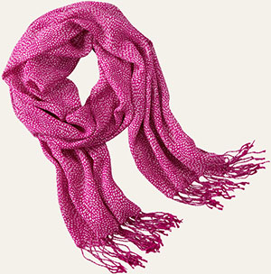 Timberland women's Rice Pattern Lightweight Scarf: US$38.