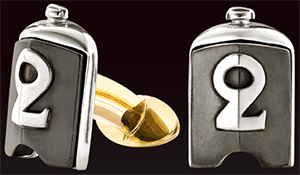 TMB Art Metal Bentley Old Number 2 Radiators cufflinks.